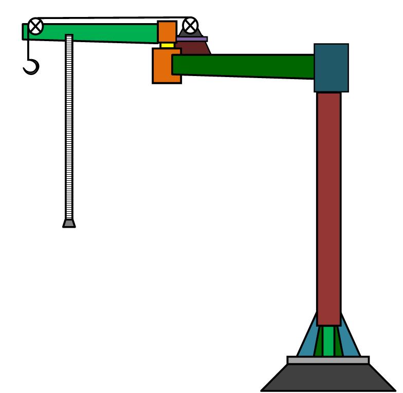 Кран консольный двухплечевой