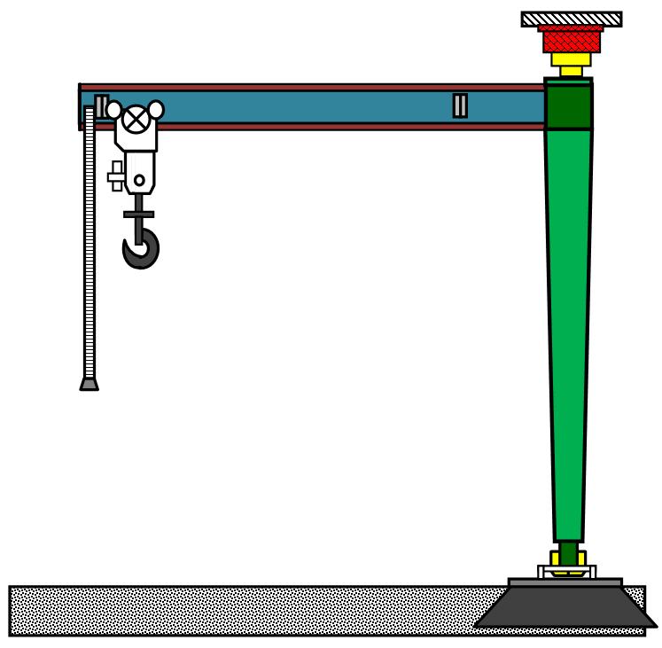 Кран на колонне с двумя опорами